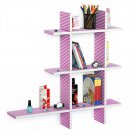 TRI-WS222-CRO-A [Love Song-A] Leather Cross Type Shelf / Bookshelf / Floating Shelf (5 pcs)