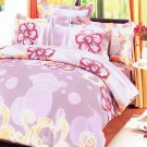 DDX01002-4 [Misty Roses] 100% Cotton 4PC Comforter Cover/Duvet Cover Combo (King Size)