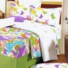 DDX01013-4 [Green Purple Butterflies] 100% Cotton 4PC Comforter Cover/Duvet Cover Combo (King Size)