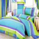 MF01001-4 [Rhythm of Life] 100% Cotton 7PC MEGA Comforter Cover/Duvet Cover Combo (King Size)