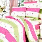 MF01007-1 [Colorful Life] 100% Cotton 5PC MEGA Comforter Cover/Duvet Cover Combo (Twin Size)