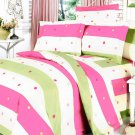 MF01007-4 [Colorful Life] 100% Cotton 7PC MEGA Comforter Cover/Duvet Cover Combo (King Size)