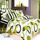MF01029-1 [Artistic Green] 100% Cotton 5PC MEGA Comforter Cover/Duvet Cover Combo (Twin Size)