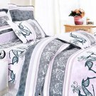 MH01003-1 [Purple Deer Totem] 100% Cotton 3PC Comforter Cover/Duvet Cover Combo (Twin Size)