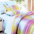 MH01006-4 [Golden Plaid] 100% Cotton 4PC Comforter Cover/Duvet Cover Combo (King Size)