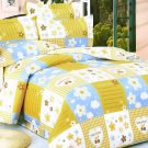 MH01020-3 [Yellow Countryside] 100% Cotton 4PC Comforter Cover/Duvet Cover Combo (Queen Size)