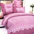 MH01037-4 [Black Tea Story] 100% Cotton 4PC Comforter Cover/Duvet Cover Combo (King Size)