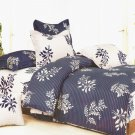 SW01002-2 [Purple Gray Flourish] 100% Cotton 4PC Comforter Cover/Duvet Cover Combo (Full Size)