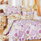 YG01001-3 [Baby Pink] 100% Cotton 4PC Comforter Cover/Duvet Cover Combo (Queen Size)