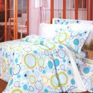 YG01009-4 [Baby Blue] 100% Cotton 4PC Comforter Cover/Duvet Cover Combo (King Size)