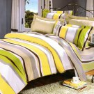 YG01010-2 [Springtime] 100% Cotton 4PC Comforter Cover/Duvet Cover Combo (Full Size)