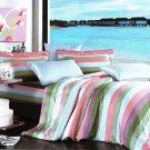 ZT01005-3 [Shoreline] 100% Cotton 4PC Comforter Cover/Duvet Cover Combo (Queen Size)