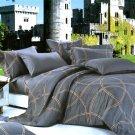 ZT01007-3 [Reminiscent Mood] 100% Cotton 4PC Comforter Cover/Duvet Cover Combo (Queen Size)