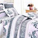 CFRS(MH03-2/CFR01-2) [Purple Deer Totem] Luxury 5PC Comforter Set Combo 300GSM (Full Size)
