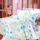 CFRS(YG09-4/CFR01-4) [Baby Blue] Luxury 5PC Comforter Set Combo 300GSM (King Size)