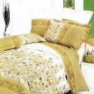CFRS(MH28-1/CFR01-1) [Field of Blossoms] Luxury 4PC Comforter Set Combo 300GSM (Twin Size)