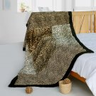 ONITIVA-BLK-079 [Leopard Art] Animal Style Patchwork Throw Blanket (61 by 86.6 inches)