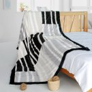 ONITIVA-BLK-083 [Enjoy Life] Stylish Patchwork Throw Blanket (61 by 86.6 inches)