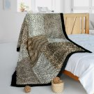 ONITIVA-BLK-084 [Modern Art] Animal Style Patchwork Throw Blanket (61 by 86.6 inches)