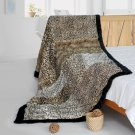 ONITIVA-BLK-085 [Enthusiasm] Animal Style Patchwork Throw Blanket (61 by 86.6 inches)