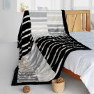 ONITIVA-BLK-091 [Romantic Trip] Stylish Patchwork Throw Blanket (61 by 86.6 inches)
