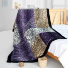 ONITIVA-BLK-094 [Precious Heartbeat] Patchwork Throw Blanket (61 by 86.6 inches)