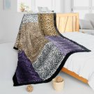 ONITIVA-BLK-095 [Nature And Sexy] Patchwork Throw Blanket (61 by 86.6 inches)