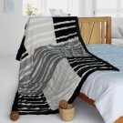 ONITIVA-BLK-099 [Charming Leopard] Patchwork Throw Blanket (61 by 86.6 inches)