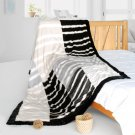 ONITIVA-BLK-102 [Stripe Beauty] Patchwork Throw Blanket (61 by 86.6 inches)