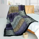ONITIVA-BLK-104 [Fashion Life] Patchwork Throw Blanket (61 by 86.6 inches)
