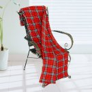 BLK-KRY036 [Trendy Plaids - Red/White/Black] Soft Coral Fleece Throw Blanket (71 by 79 inches)