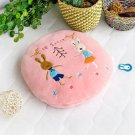 HT-CB002 [Sugar Rabbit - Round Pink02] Blanket Pillow Cushion (31.5 by 43.3 inches)