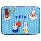 TB-BLK005-BLUE [Miffy - Blue] Coral Fleece Baby Throw Blanket (28.7 by 39.4 inches)