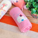 TB-BLK014-WHALE [White Whale - Pink] Fleece Baby Throw Blanket (29.5 by 39.4 inches)