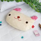 TB-BLK017-RABBIT [Pink Rabbit] Fleece Throw Blanket Pillow Cushion (37 by 51.2 inches)
