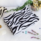 TB-BLK018-WHITE [Animal Zebra - White] Coral Fleece Throw Blanket (59.1 by 78.7 inches)