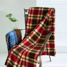 TB-BLK026 [Scotch Plaids - Red/Yellow/Grey] Soft Coral Fleece Throw Blanket (71 by 79 inches)