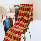 TB-BLK033 [Scotch Plaids - Red/Brown/White] Soft Coral Fleece Throw Blanket (71 by 79 inches)