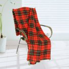 TB-BLK061 [Trendy Plaids - Black/Red/Yellow] Soft Coral Fleece Throw Blanket (71 by 79 inches)
