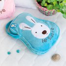 TB-CB006-BLUE [Sugar Rabbit - Blue] Throw Blanket Pillow Cushion (25.2 by 37 inches)