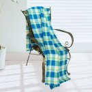 WNZJ-BLK011 [Trendy Plaids - Blue/Green/Cream] Soft Coral Fleece Throw Blanket (59 by 74.8 inches)