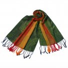 Pa-a82-6 Multi-Colors Rose & Paisley National Style Exquisite Soft Tassel Ends Pashmina