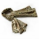 BRA-SCA01015-L Brando Special Leopard Grain Color Animal Print Natural Elegant Silk Scarf(Large)