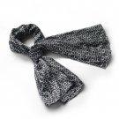 BRA-SCA01028-S Brando Black Square Chain Design Fashion Luxuriant Silky Scarf(Small)