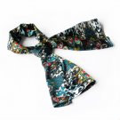 BRA-SCA01037-S Brando Sea Green Distinctive Paisley Pattern Fashion Soft Silky Scarf(Small)