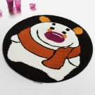 NAOMI-DA6413-1 [Winter Bear] Kids Room Rugs (23.6 by 23.6 inches)