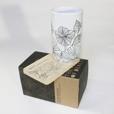 SYNC-ZS01 [Lotus Leaves] Graphic Mug / Wood Coaster - No Handle (4.4 inch height)