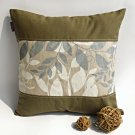 ONITIVA-DP010 [Deep Woods] Linen Patchwork Pillow Cushion Floor Cushion (19.7 by 19.7 inches)