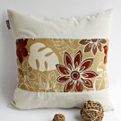 ONITIVA-DP028 [Nice day] Linen Patchwork Pillow Cushion Floor Cushion (19.7 by 19.7 inches)