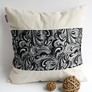 ONITIVA-DP029 [Cavaliele] Linen Patchwork Pillow Cushion Floor Cushion (19.7 by 19.7 inches)